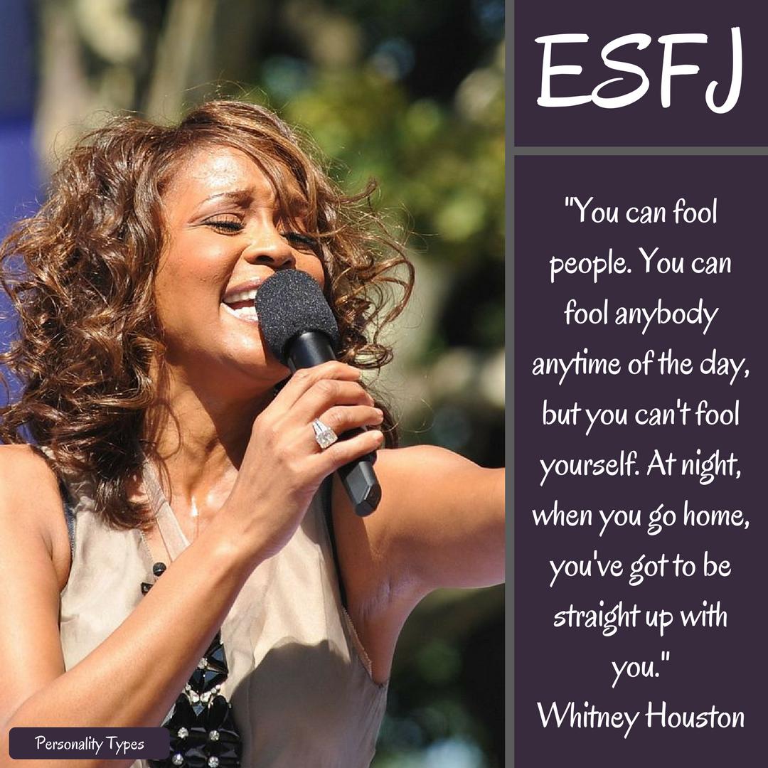 Whitney Houston Quotes ESFJ Quotes