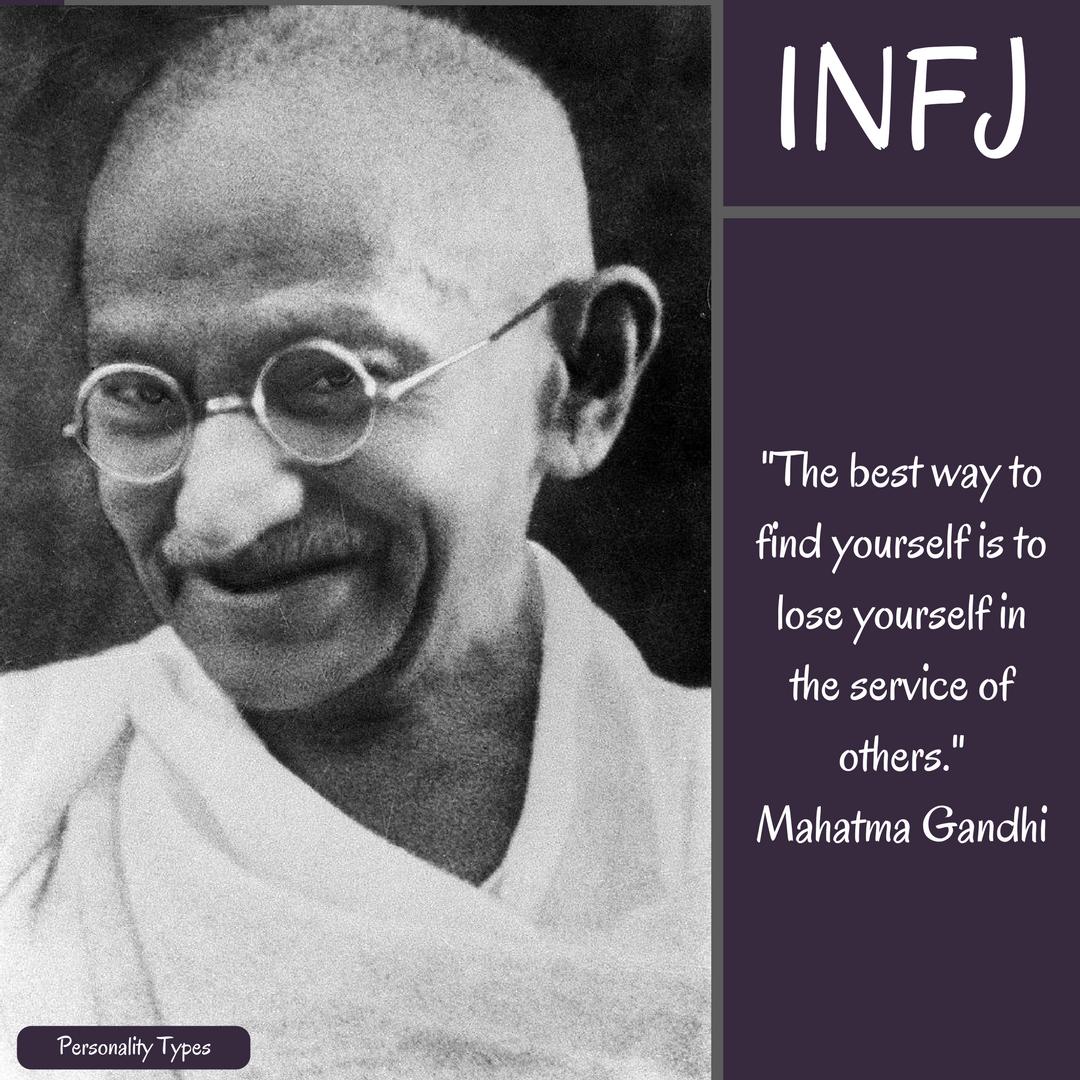 Mahatma Gandhi Quote INFJ Quote