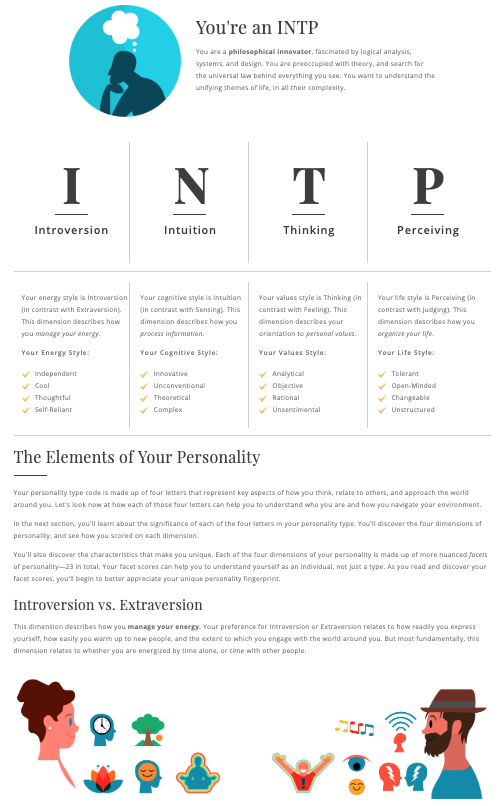 Personality Test Example