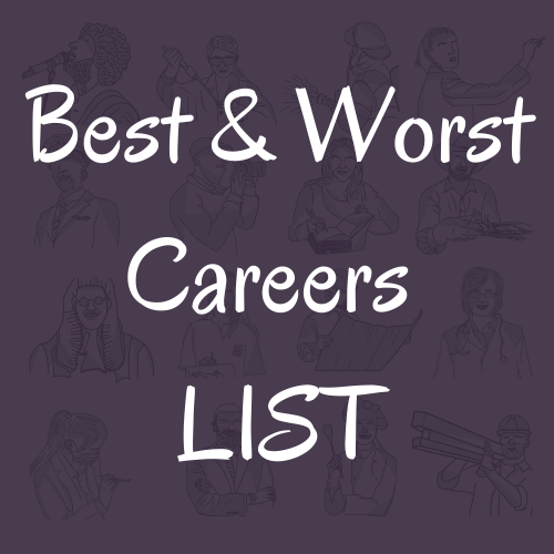 Best and Worst careers List